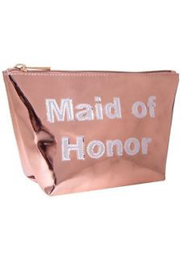 Medium Avery Cosmetic Case - Maid of Honor  - MAIDHONOR