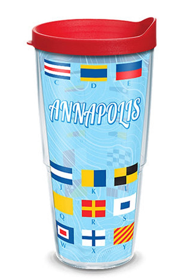 24oz Wrapped Tumbler - Annapolis Sailing Flags  - ANNAPOLISFLA