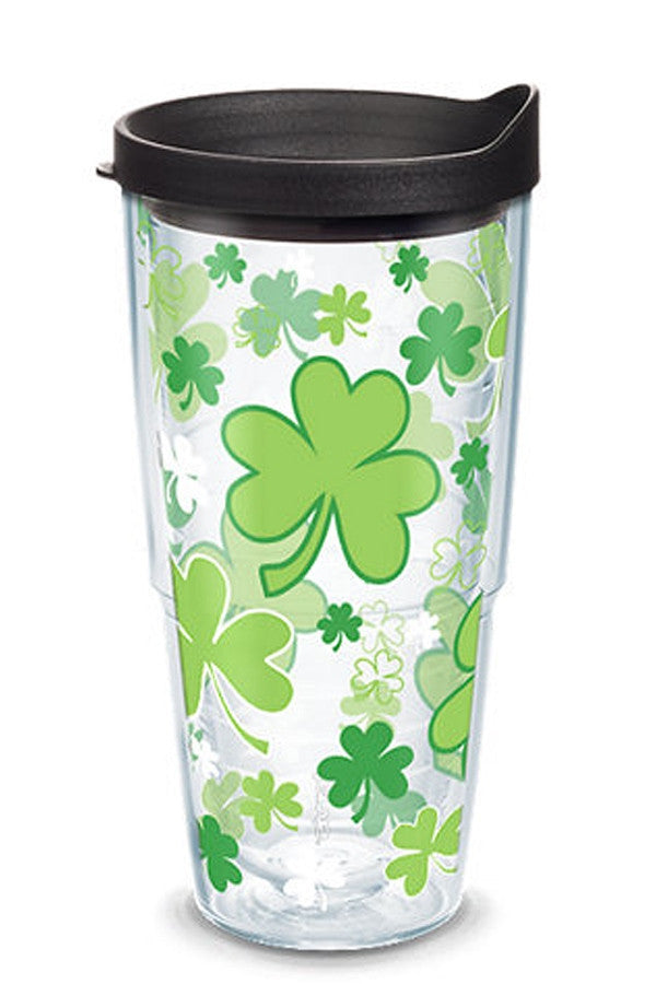 24oz Wrapped Tumbler - Shamrocks  - SHAMROCKS