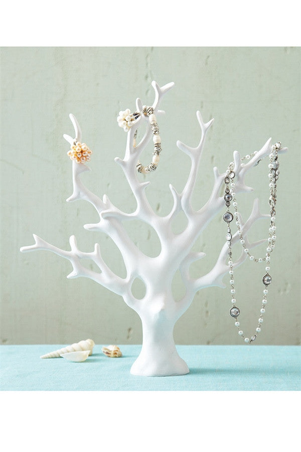 Coral Tree Jewelry Holder - White  - WHITE