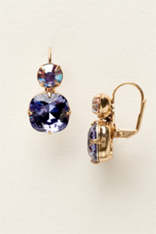 On The Edge Earring - Tanzanite
