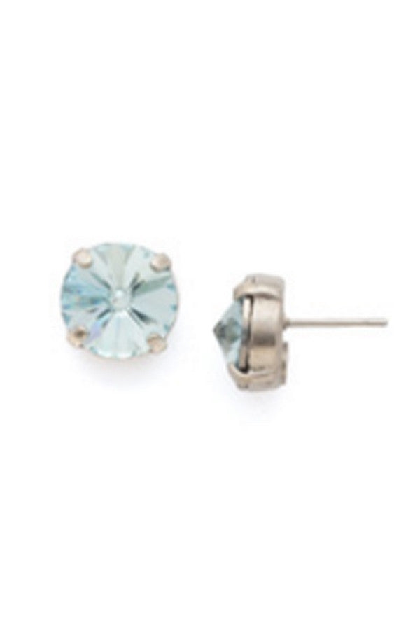 Radiant Rivoli Stud Earring - Pebble Blue