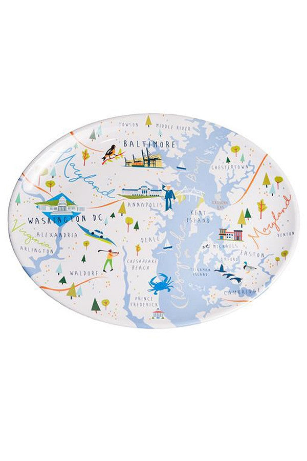 Local Melamine Platter - Chesapeake Bay & Maryland