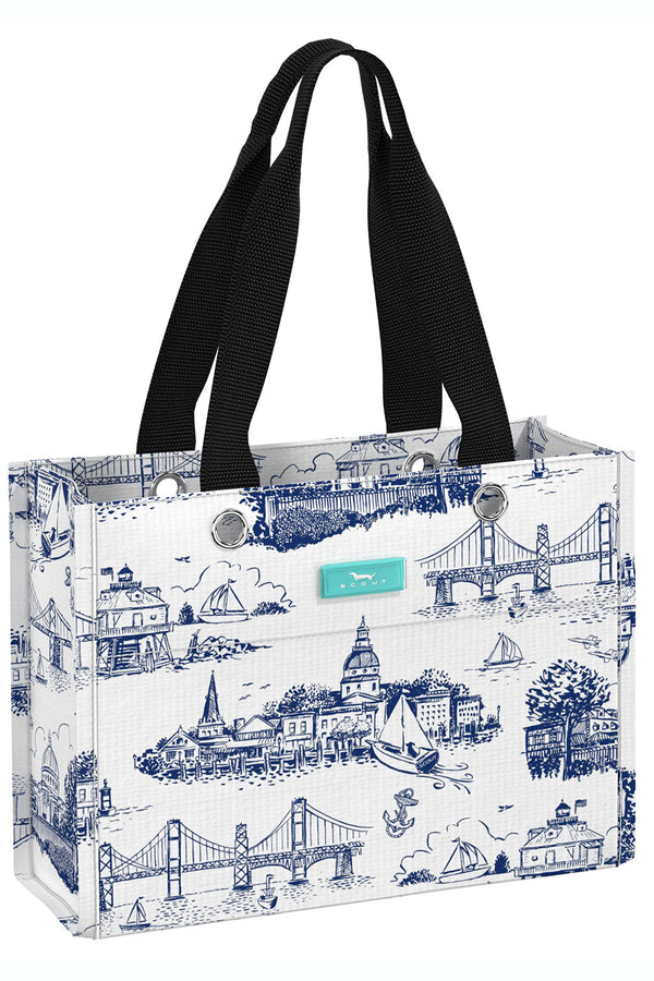 "Tiny Package Gift Bag - ""Exclusive Annapolis at Whimsicality in Navy & White"""