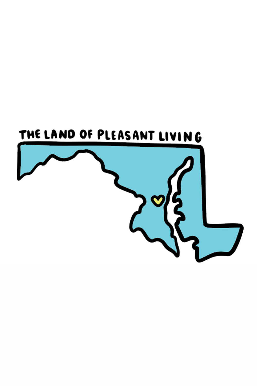 Trendy Sticker - Maryland Land of Pleasant Living