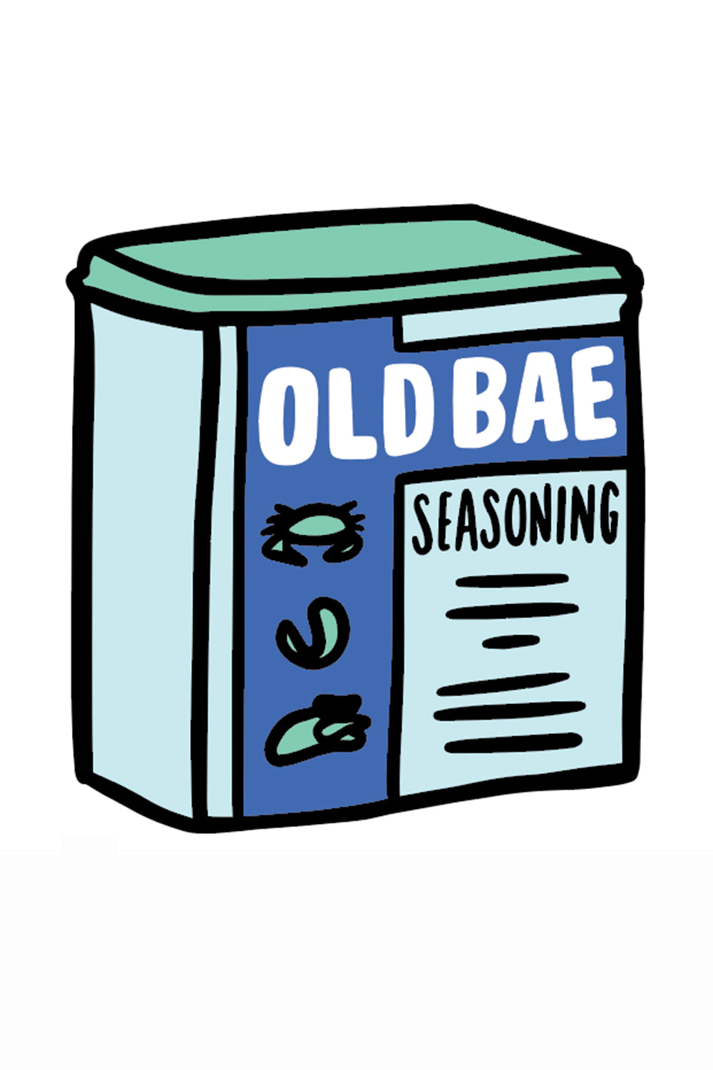 Trendy Sticker - Old Bae Can
