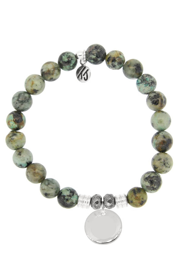 TJ Beaded Bracelet Exclusive - African Turquoise Stone