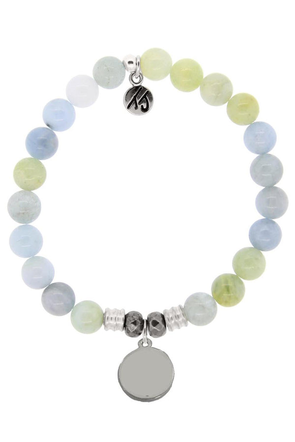 TJ Beaded Bracelet Exclusive - Aquamarine Stone