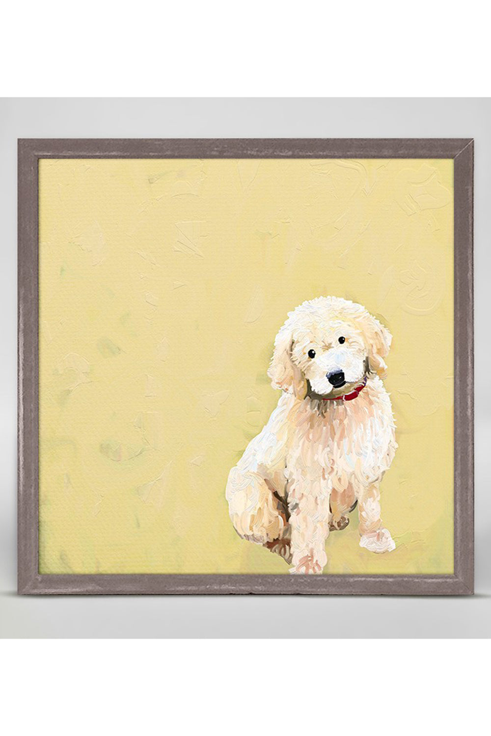 Rustic Mini Framed Canvas - Golden Doodle