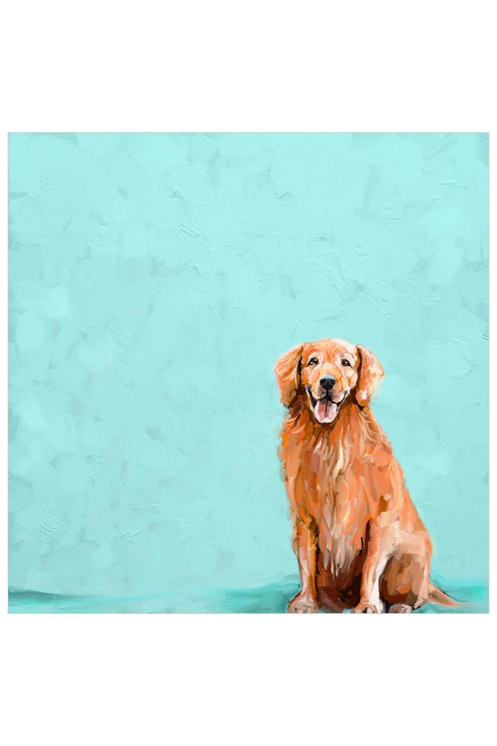 Whimsical Art Canvas - Sweet Golden Retriever