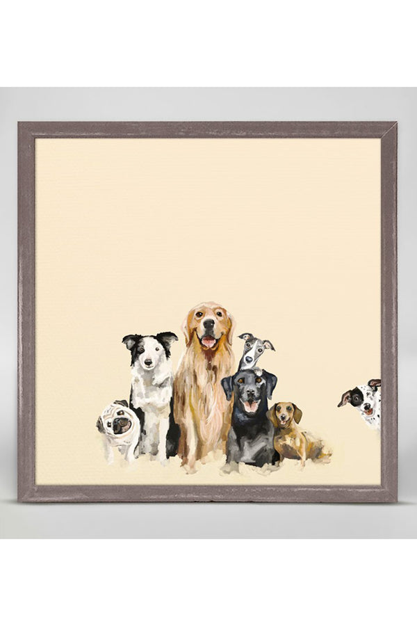 Rustic Mini Framed Canvas - Puppy Pack