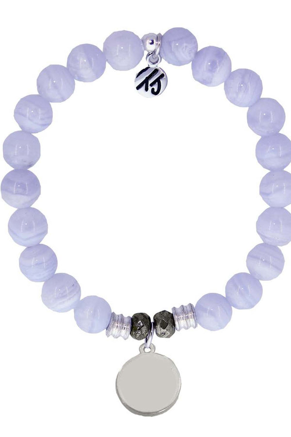 TJ Beaded Bracelet Exclusive - Blue Lace Agate Stone