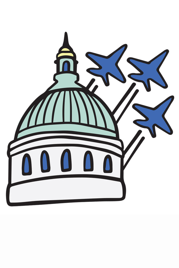 Trendy Sticker - Naval Academy Chapel & Blue Angels