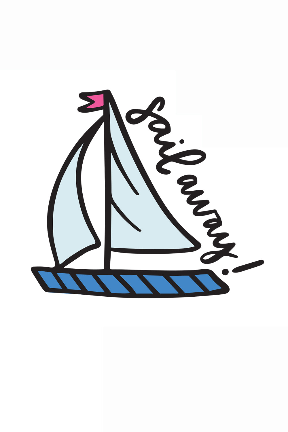 Trendy Sticker - Sailboat