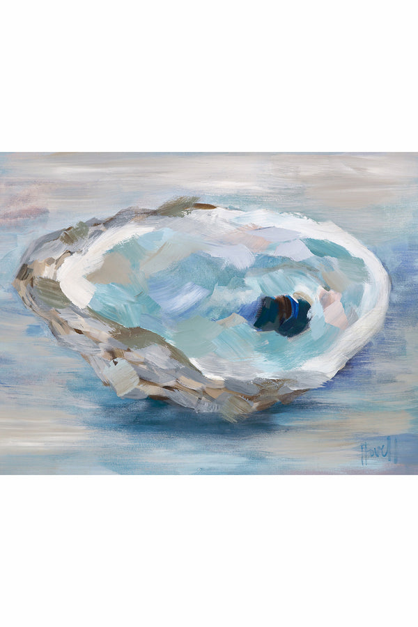 Kim Hovell Matted Print - Brackish Oyster