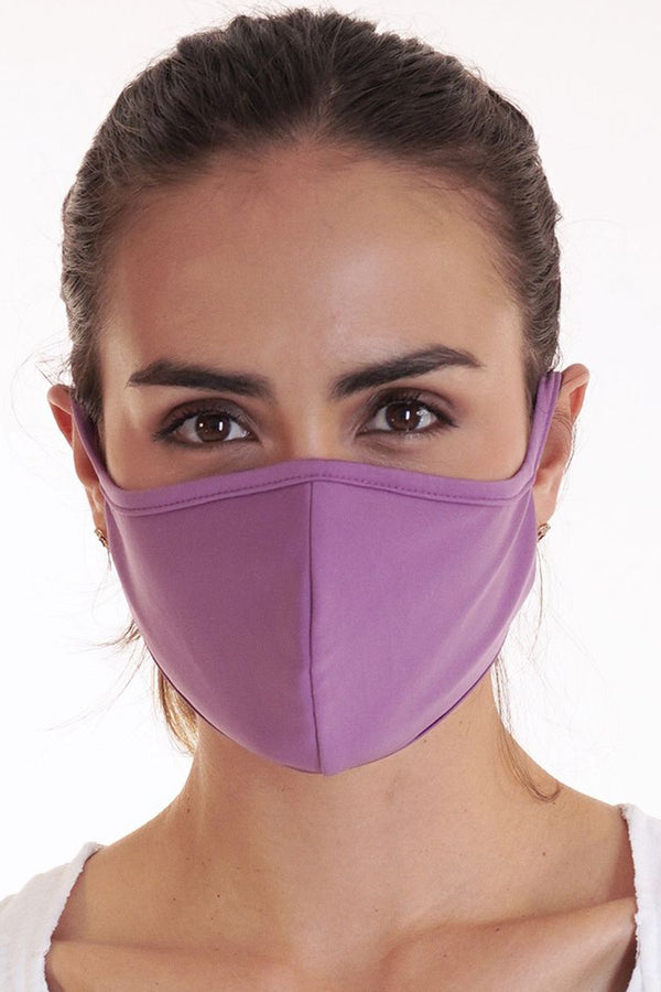 Reversible Face Mask - Plain Purple