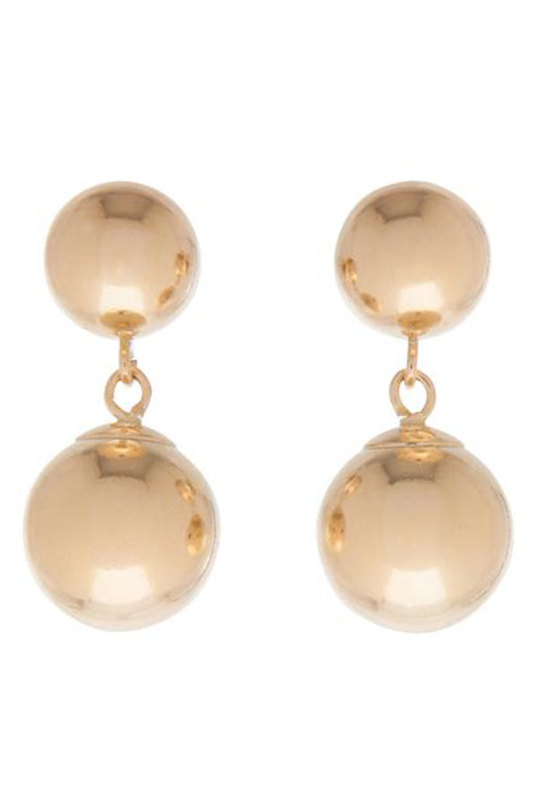 EN Clarity Stud Drop Earring - Gold