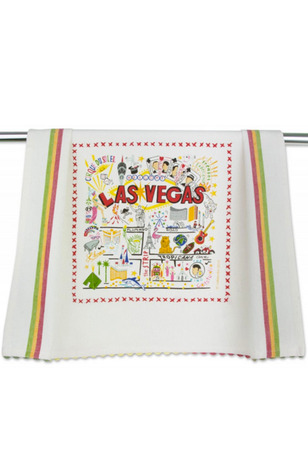 Embroidered Dish Towel - Las Vegas