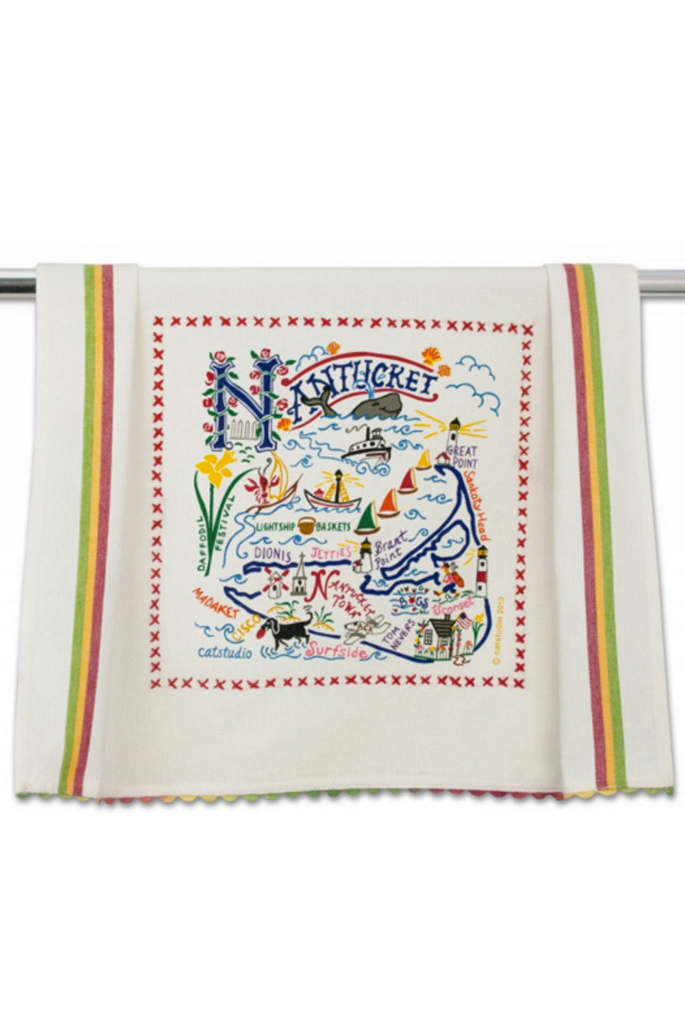 Embroidered Dish Towel - Nantucket