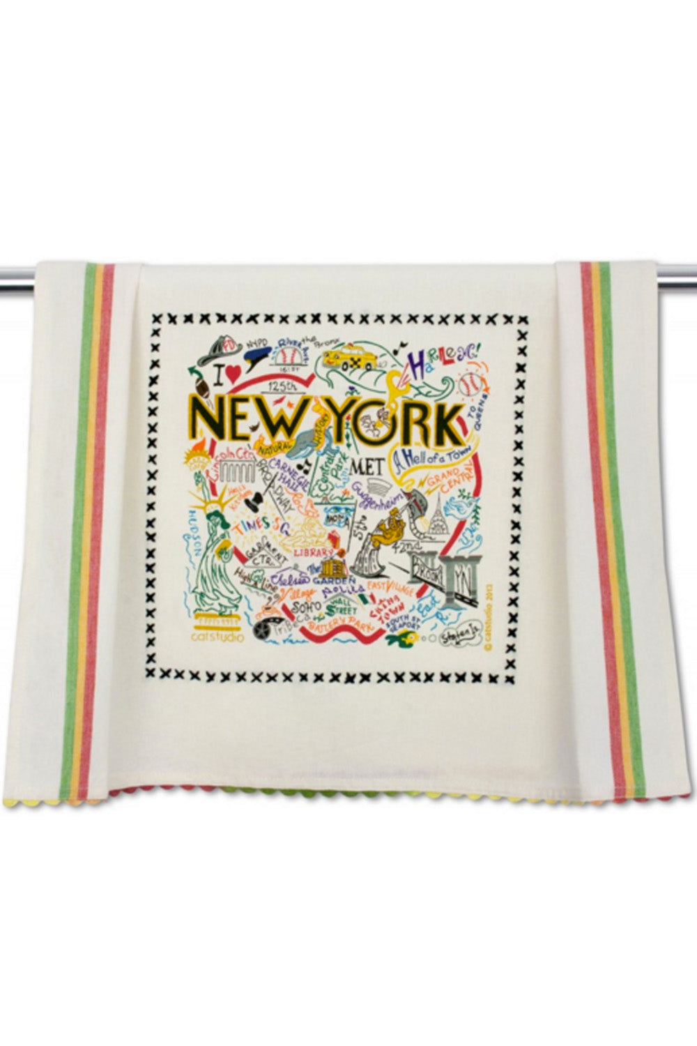 Embroidered Dish Towel - New York City