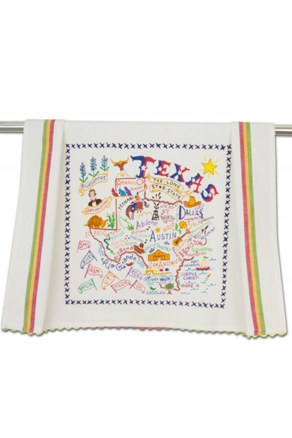 Emrboidered Dish Towel - Texas
