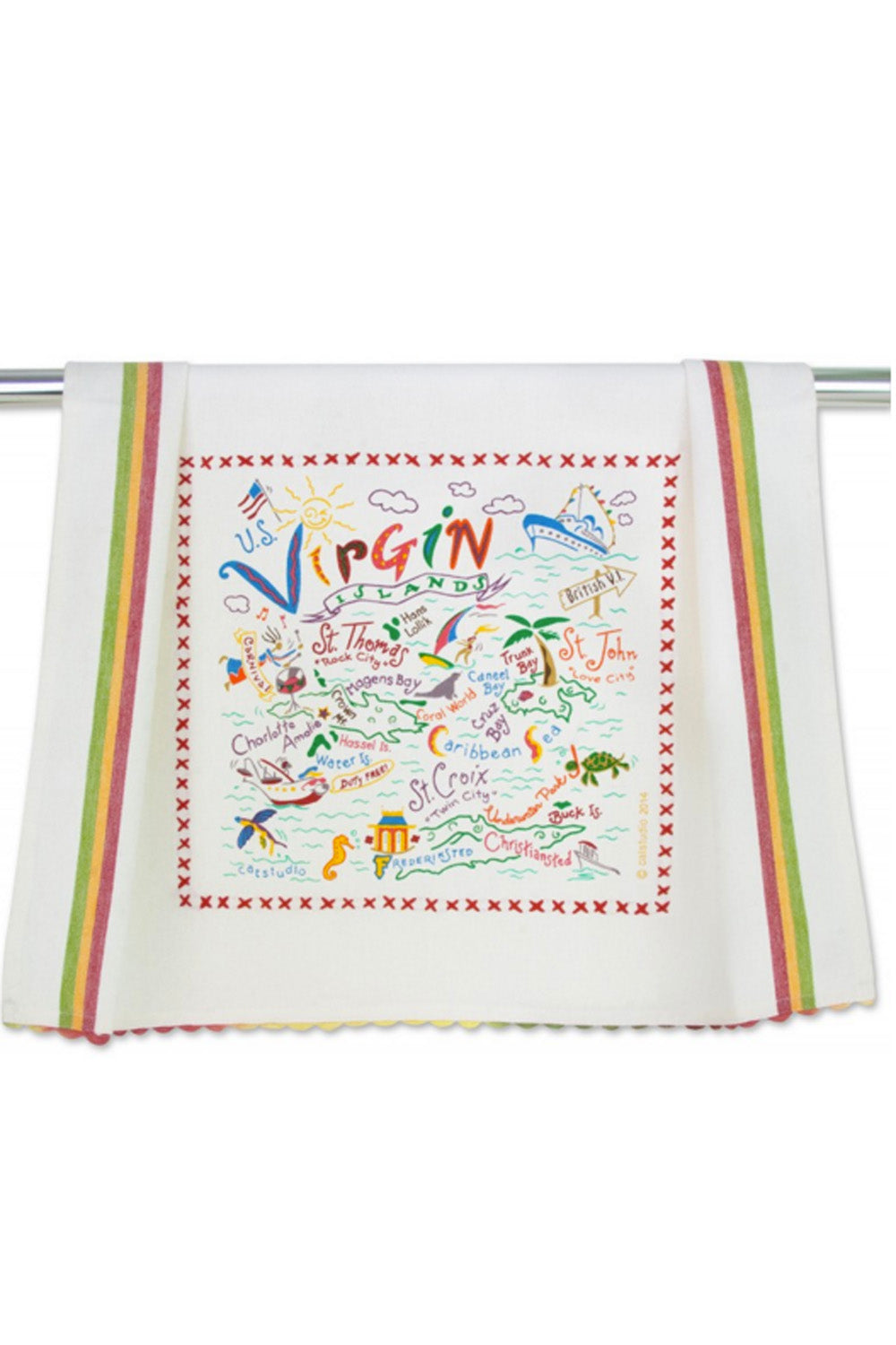 Embroidered Dish Towel - Virgin Islands