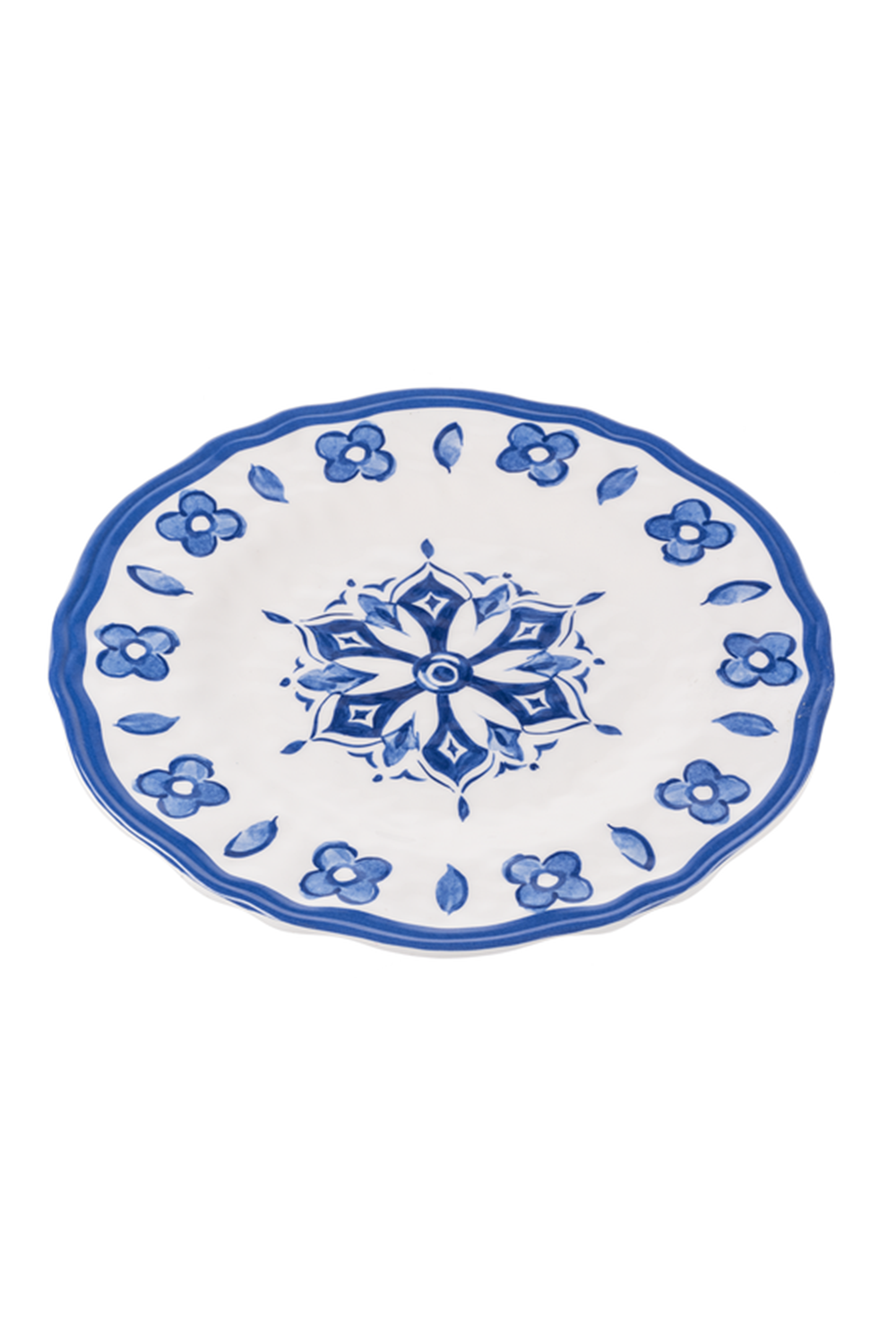 "Melamine Plate 9.25"" - Blue China"