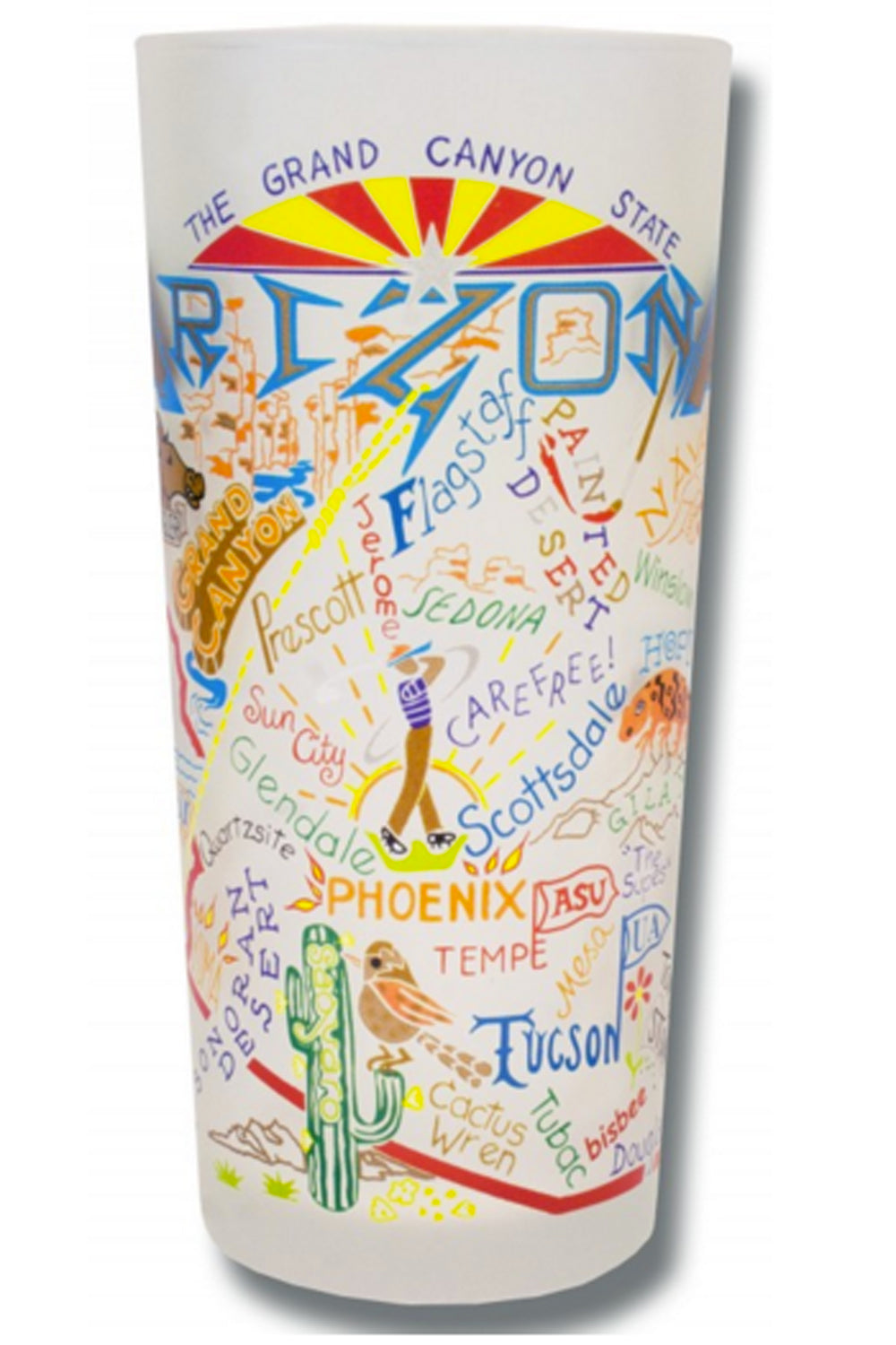 CS Frosted Glass Tumbler Cup - Arizona