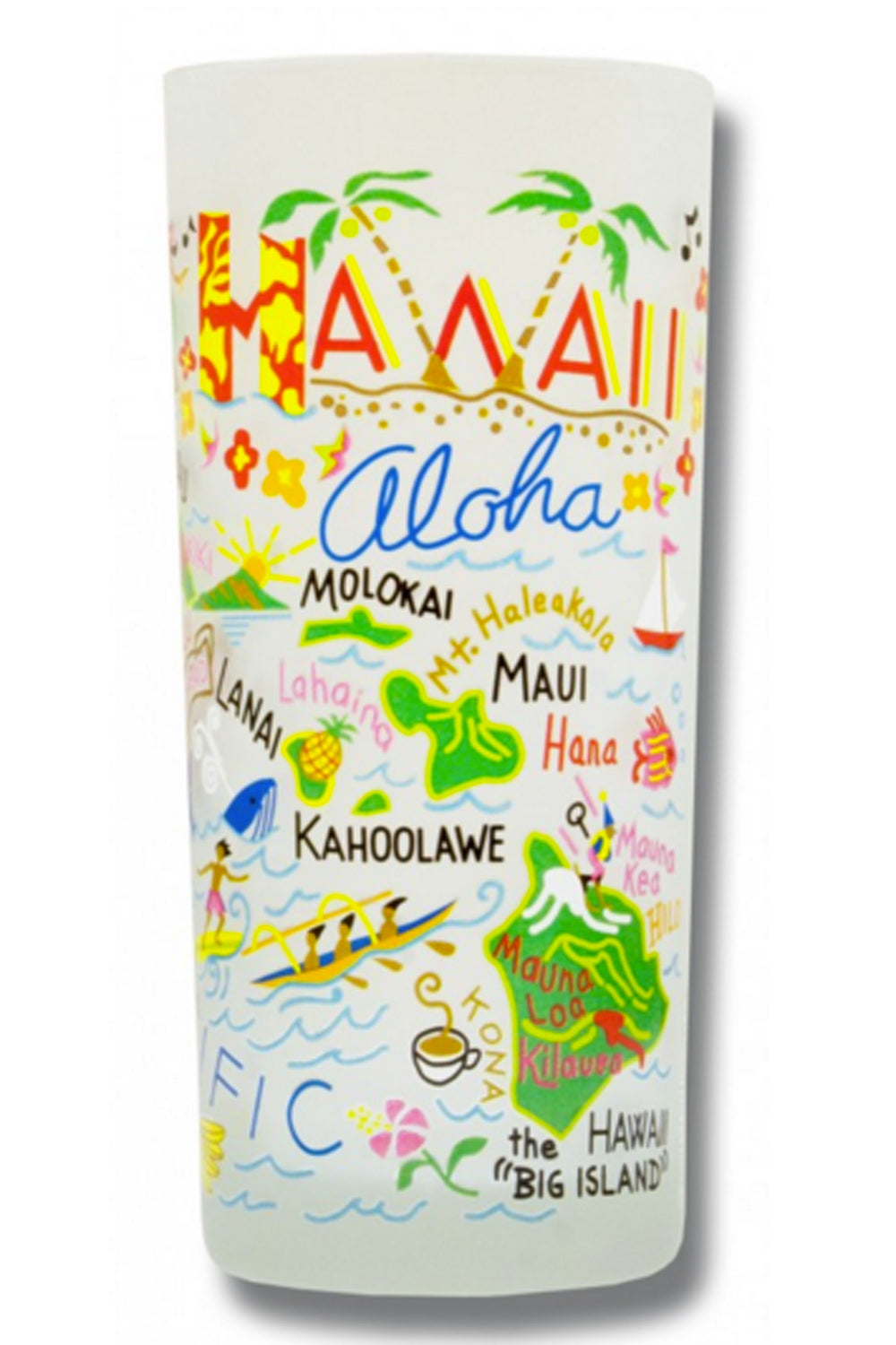 CS Frosted Glass Tumbler Cup - Hawaii