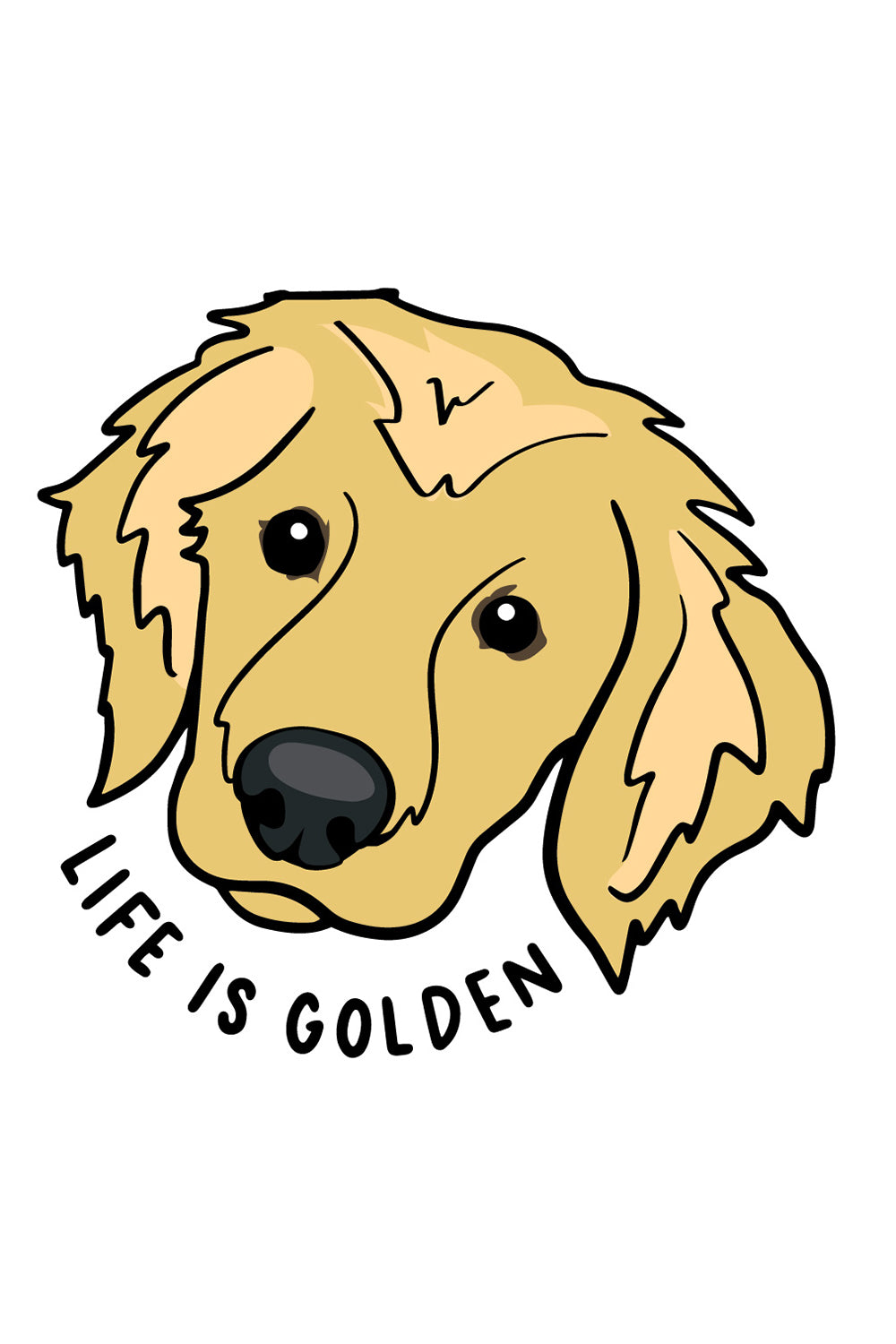 Trendy Sticker - Golden Retriever