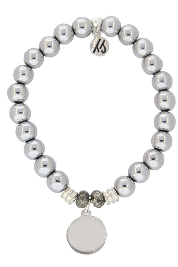 TJ Beaded Bracelet Exclusive - Hematite Stone