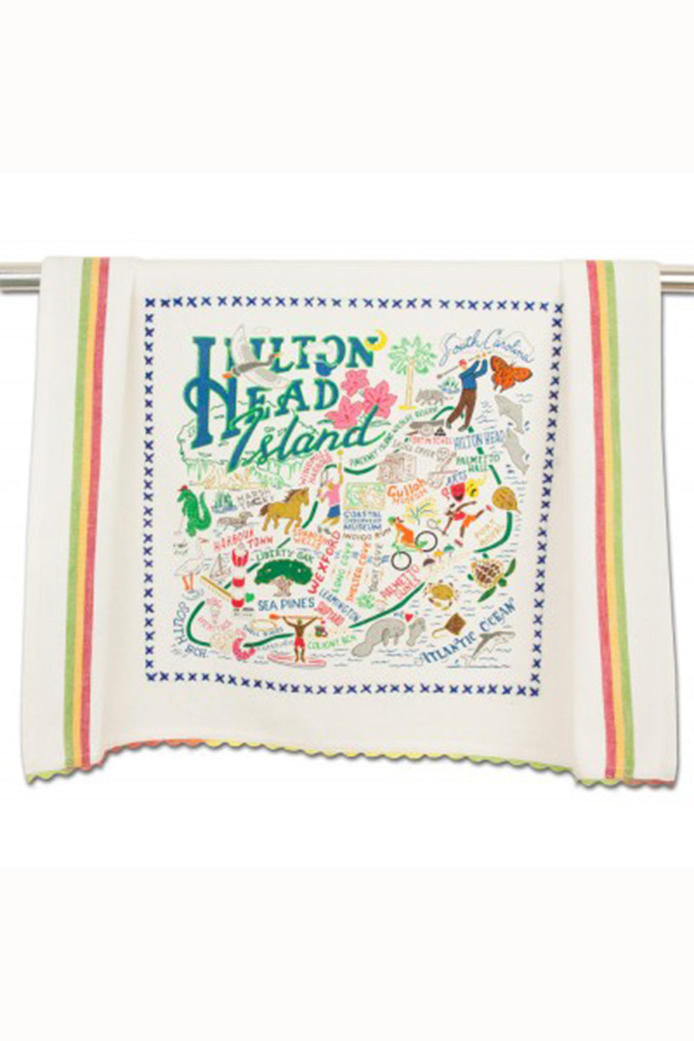 Embroidered Dish Towel  - Hilton Head
