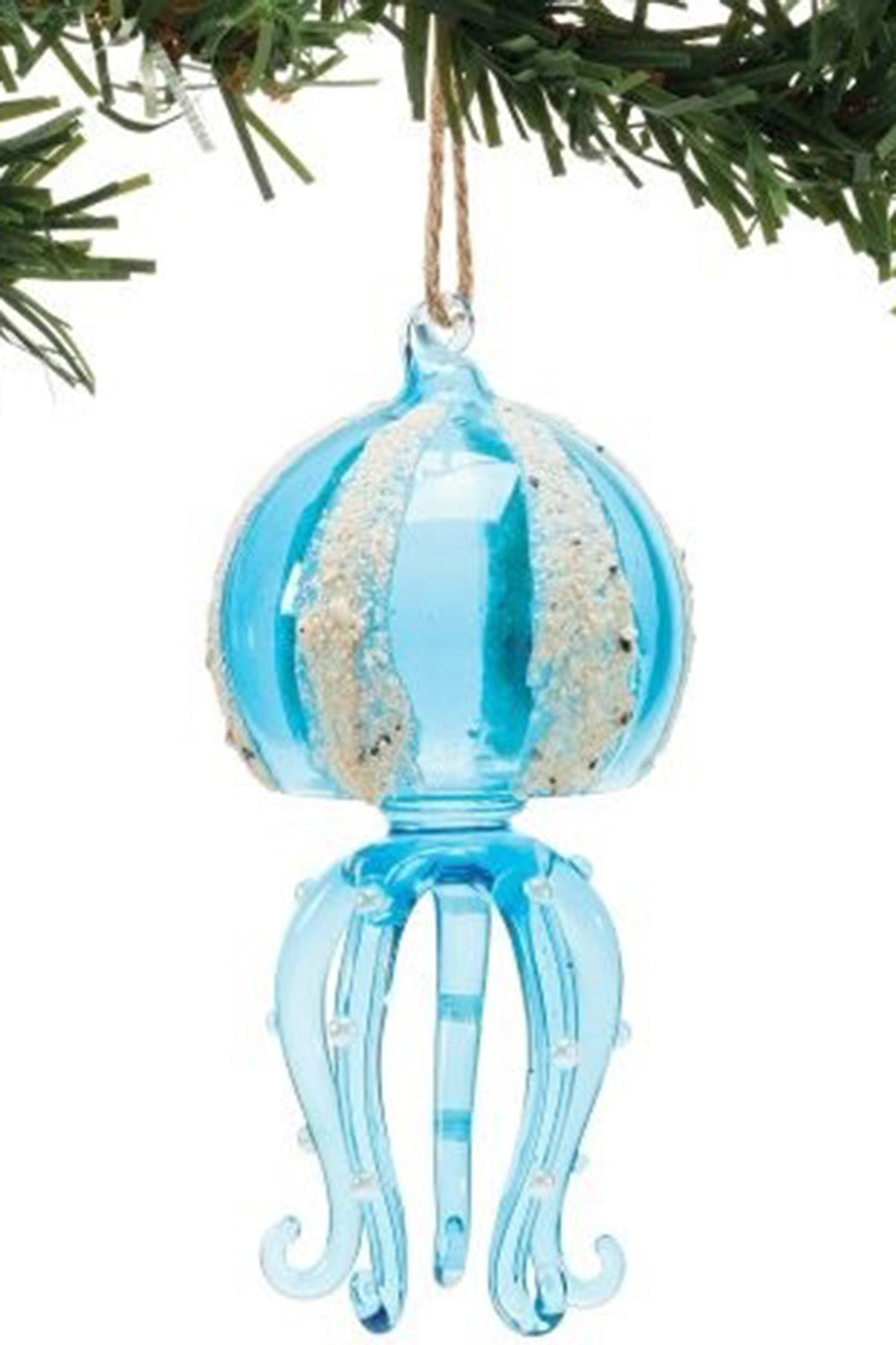 Glass Ornament - Sand Blue Octopus