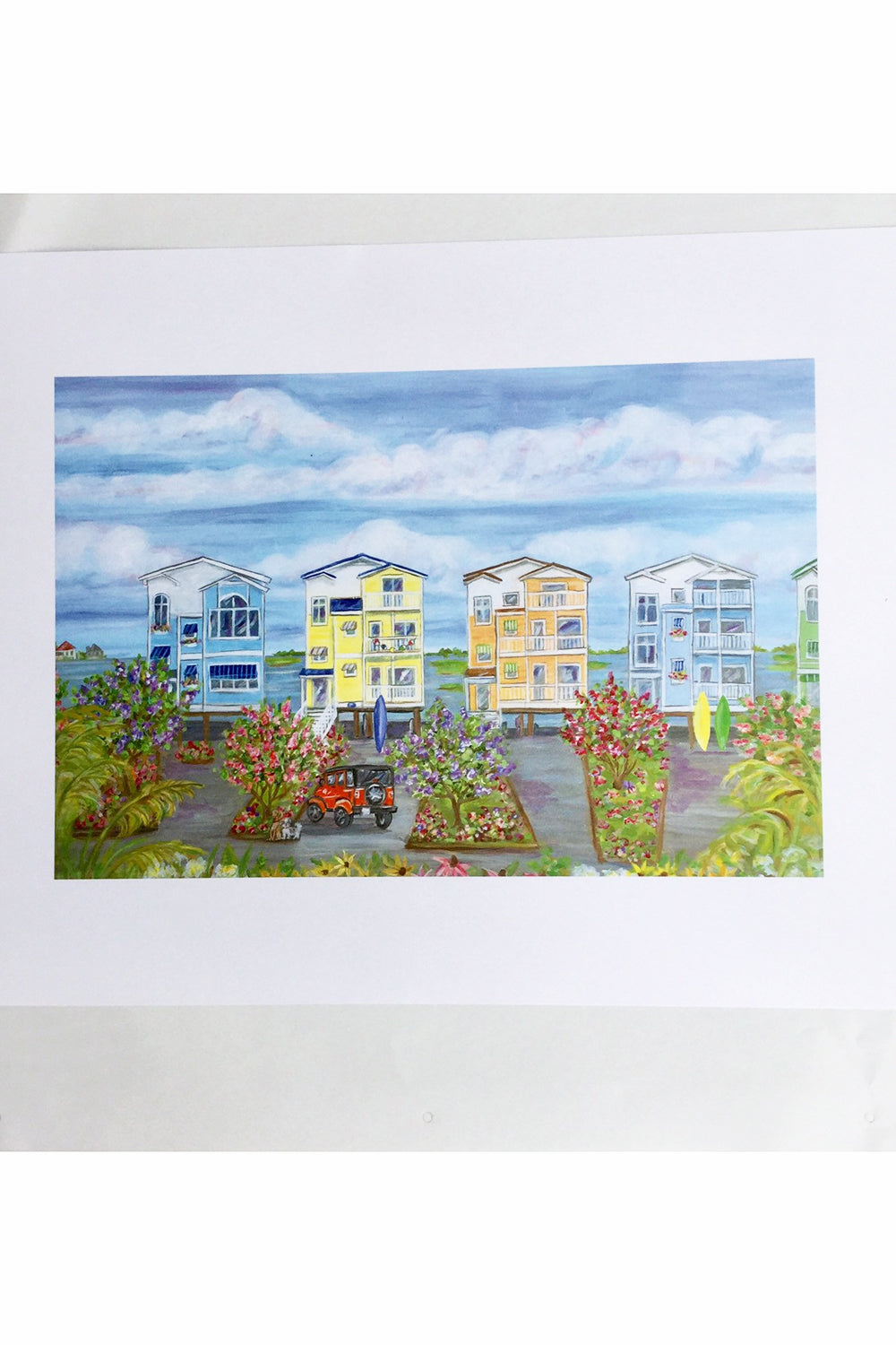 Unframed Collage - Fenwick Colorful Houses