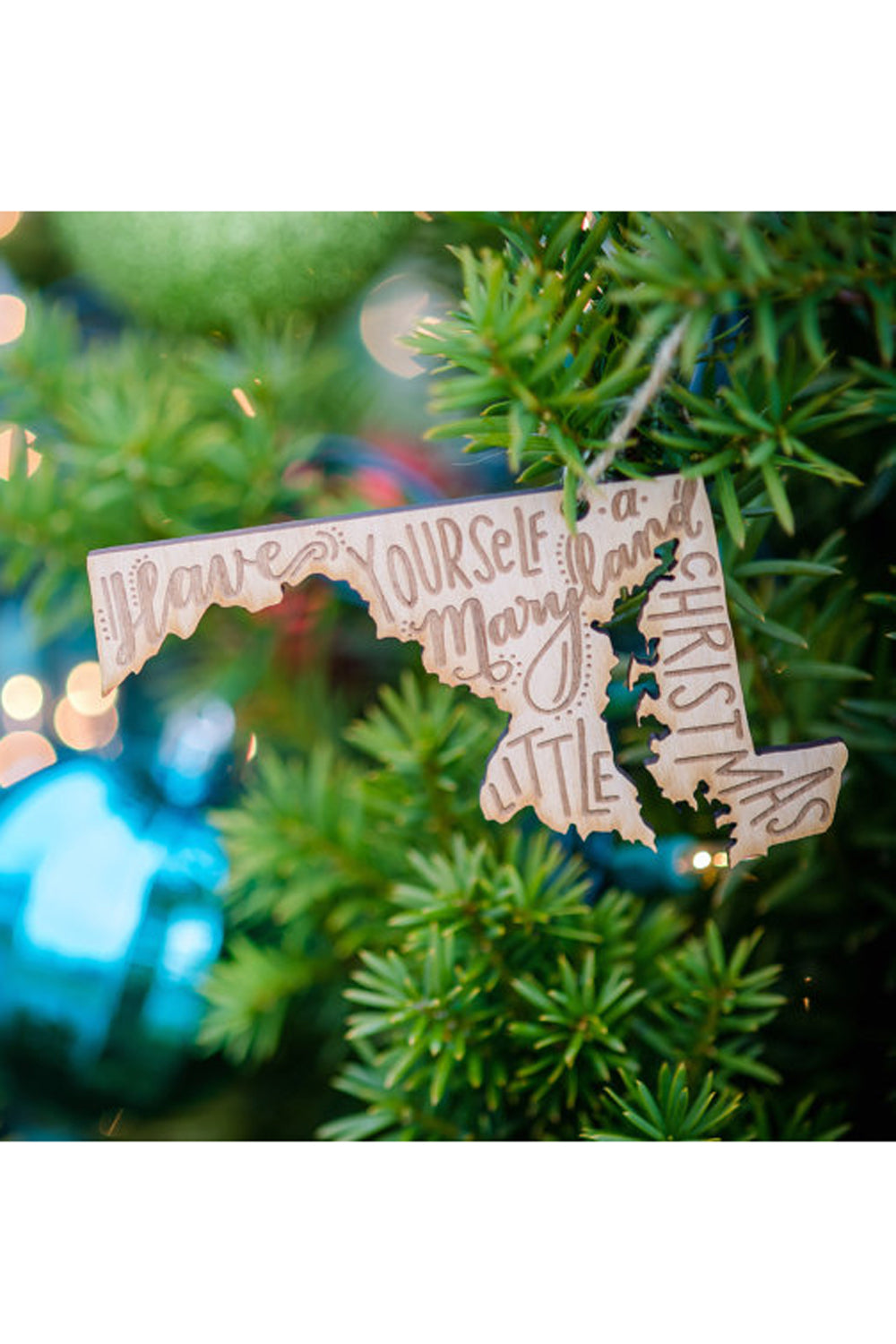 Wooden Ornament - Maryland Little Christmas
