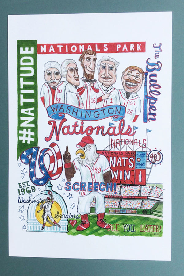 Unframed Collage - Washington, DC Nationals