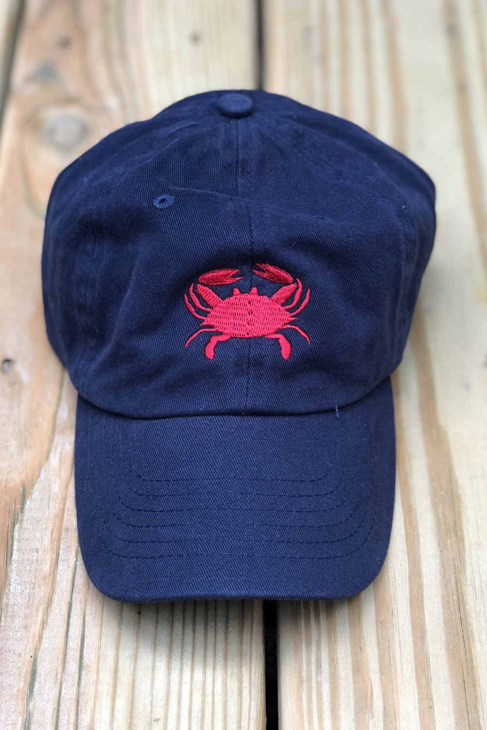 Adjustable Hat - Crab Navy & Red