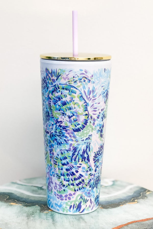 Lilly Straw Tumbler - Shell of a Party