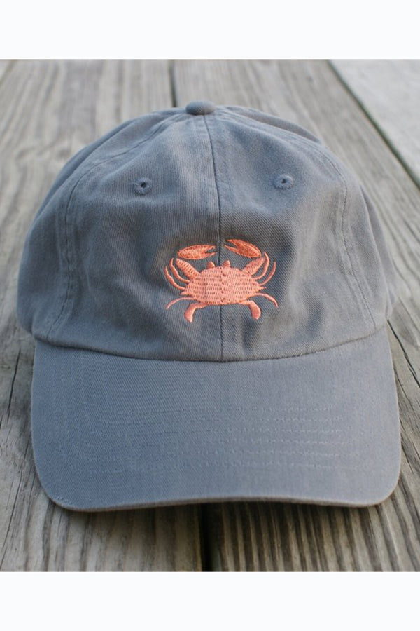 Adjustable Hat - Crab Blueberry & Peach