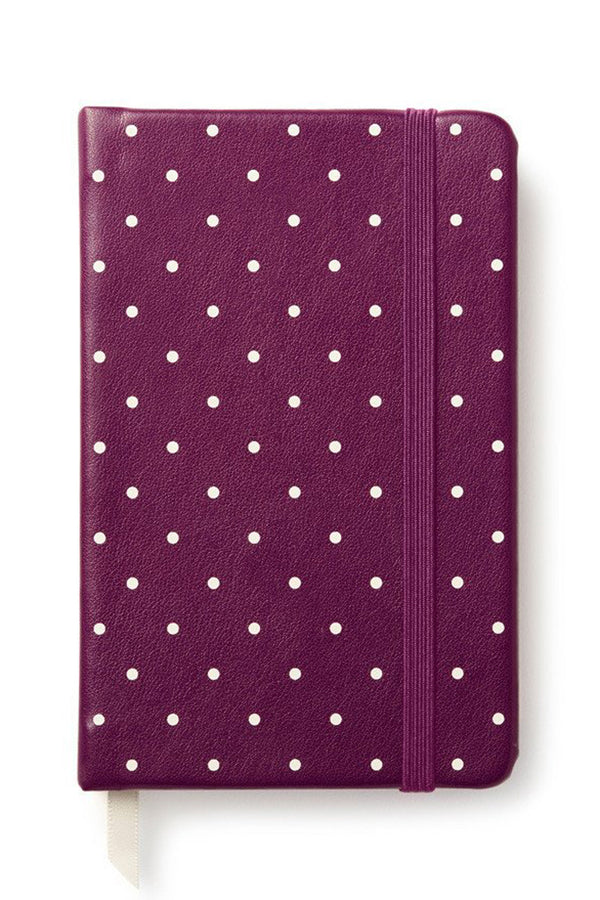 Preppy Kate Spade Mini Journal - Plum Larabee Dot