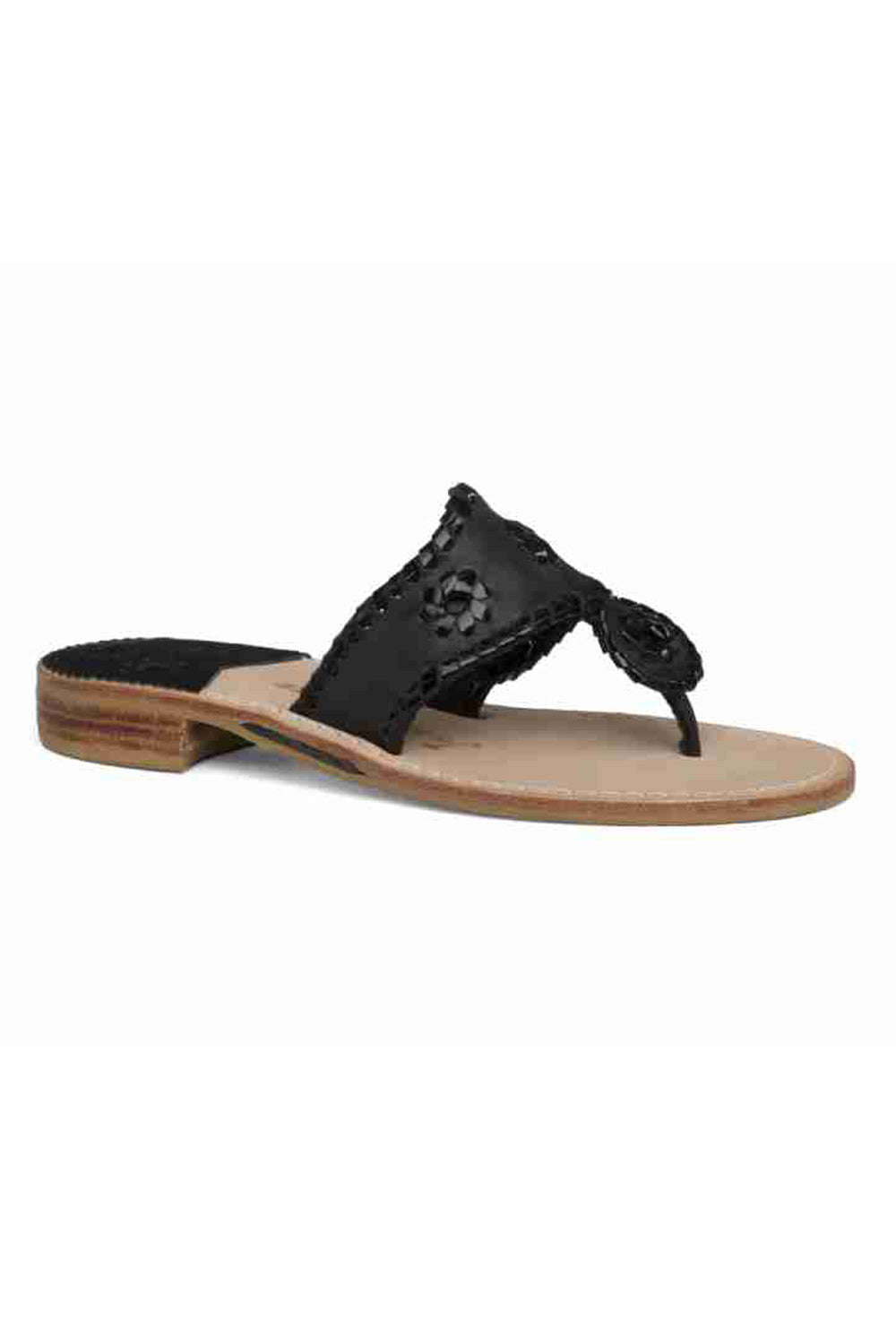 Palm Beach Sandal - Black Patent