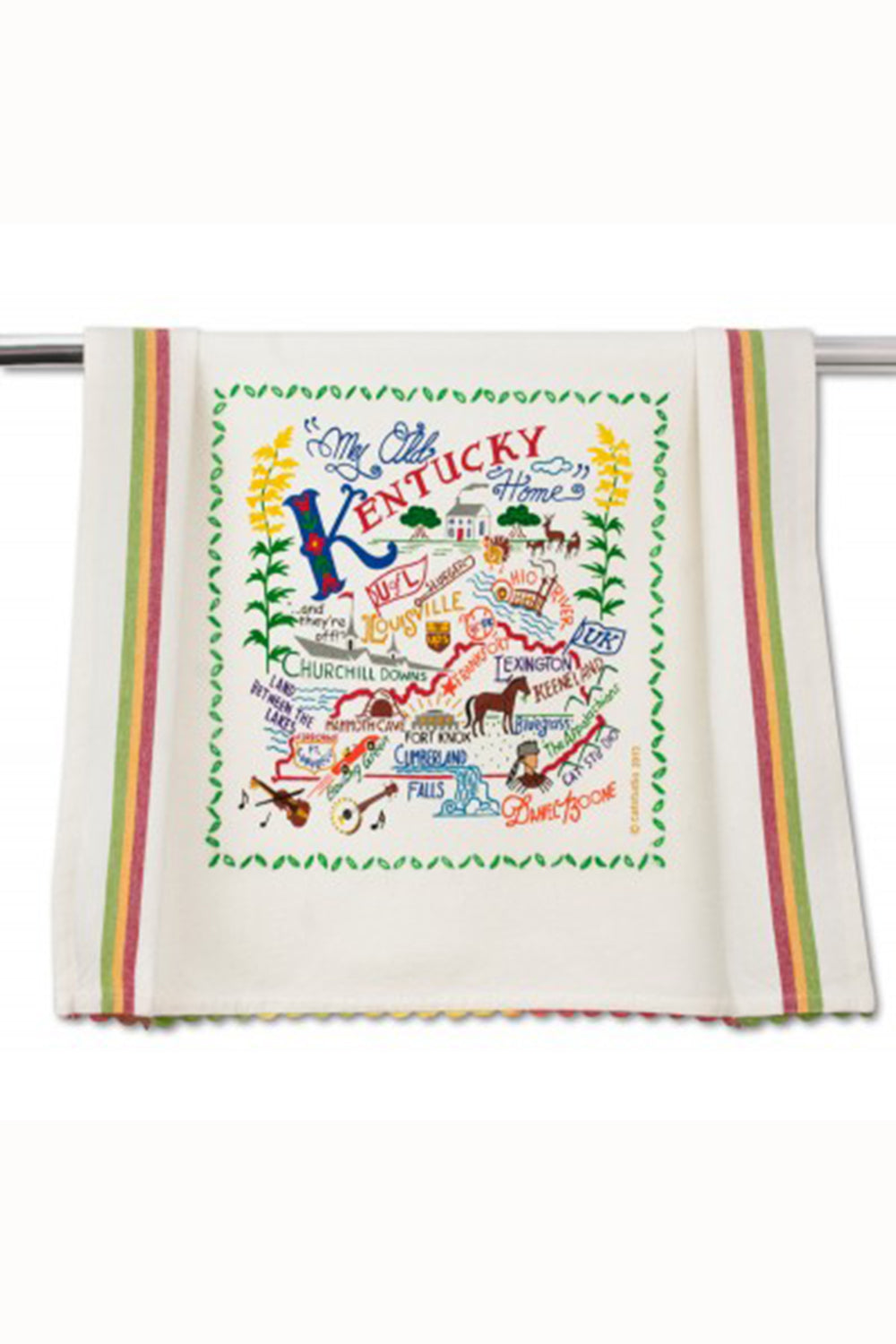 Embroidered Dish Towel  - Kentucky