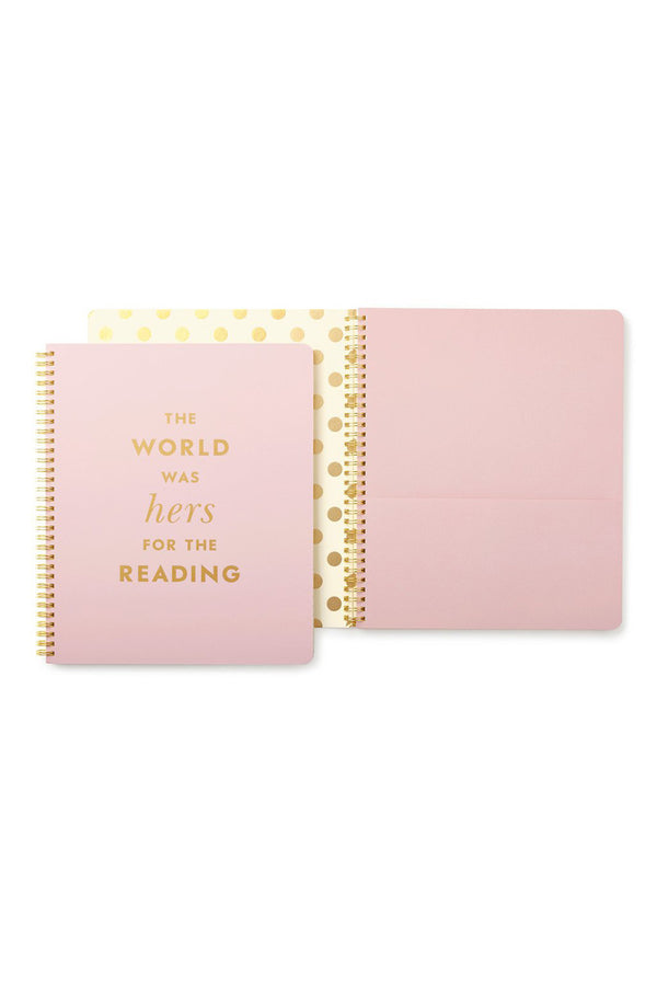 Large Kate Spade Spiral Notebook - Hers for the Reading