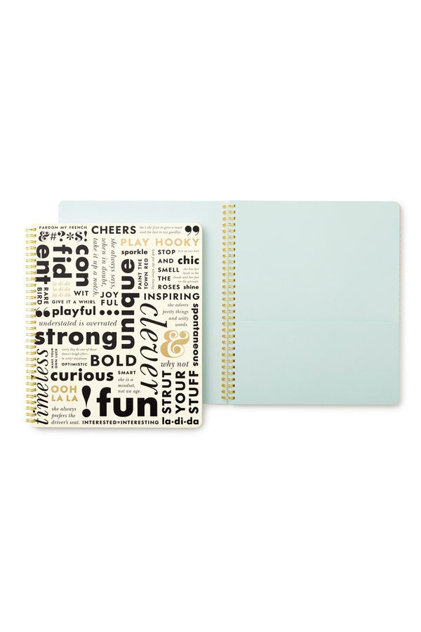 Large Kate Spade Spiral Notebook - What Do You Say