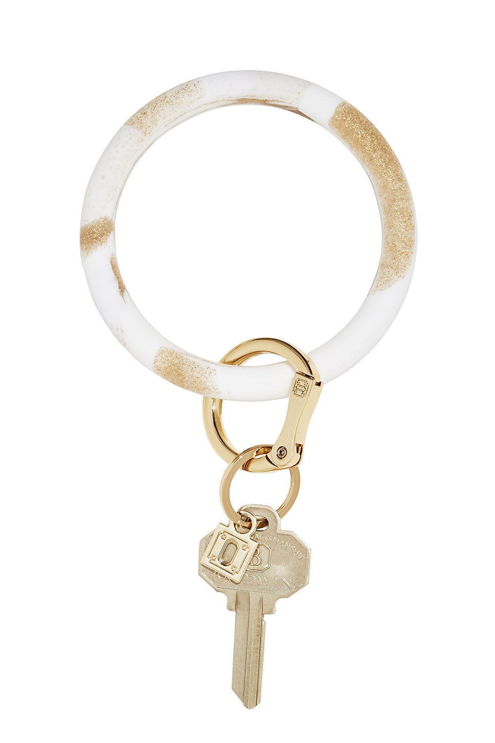 The BIG O Key Ring *Silicone* - Marble Gold Rush