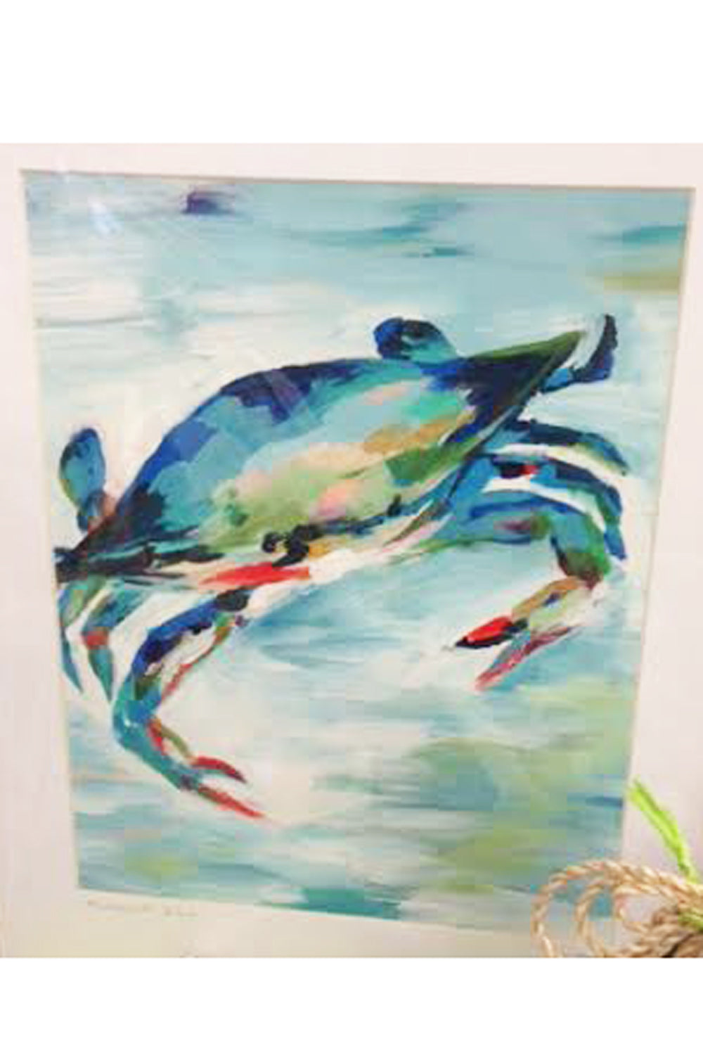 Kim Hovell Matted Print - Maryland Blue Crab