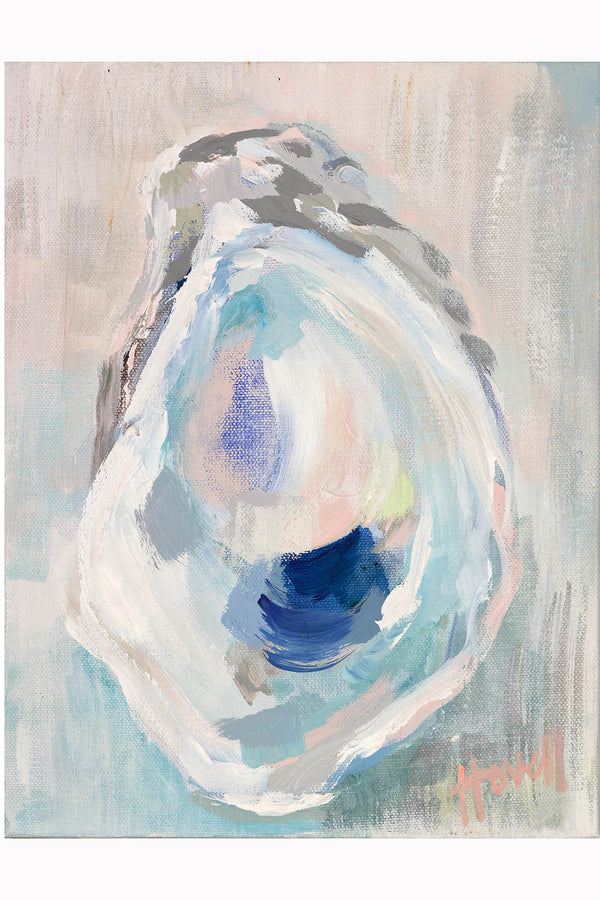 Kim Hovell Matted Print - Moonstone Oyster