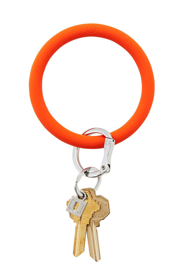 The BIG O Key Ring *Silicone* - Orange Crush