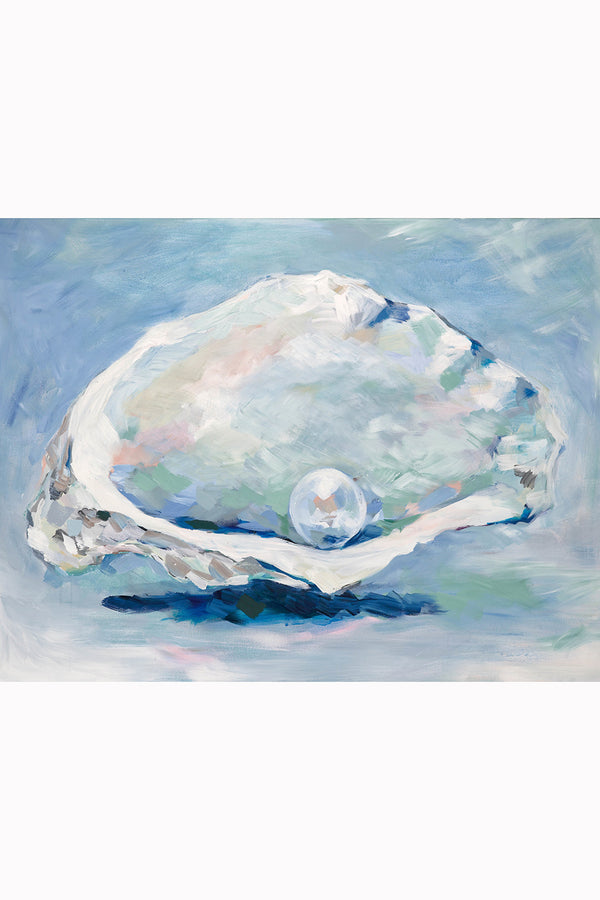 Kim Hovell Matted Print - Oyster & Pearl