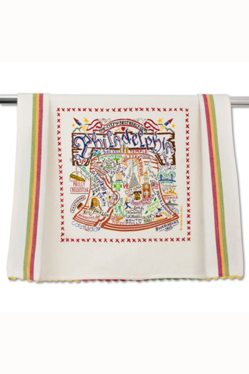 Embroidered Dish Towel  - Philadelphia